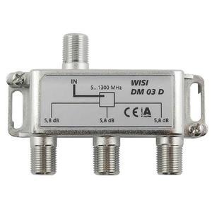 WISI 3-fach F-Verteiler 5-1300 MHz
