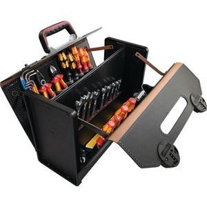 PARAT Werkzeugtasche B.420xT.185xH.315mm 24l Rindleder schwarz Mittelw. CP-7 Stecksyst.