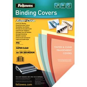 Fellowes Deckblatt A4 transparent 300 Mikron