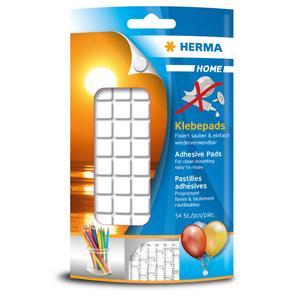 Herma Klebepads, rückstandsfrei ablösbar, 54 Klebestücke in 1 Packung