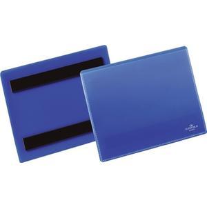 Etikettentasche B148xH105mm blau magnetisch
