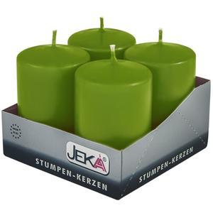 Jeka Kerzen Jeka, Stumpen 80/50mm 4er Packung (MOOS)