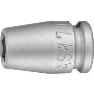 ASW Kraftschraubersteckschlüsseleinsatz 710 3/8 ? 6-Kant Schlüsselweite 15 mm Länge 30 mm
