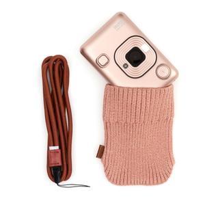 Fujifilm Instax LiPlay blush gold Set Sofortbildkamera+Kabel+NeckStrap+Socke