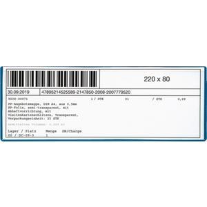 Multipack EICHNER Etikettentasche B220xH80mm magnetisch 10St./Pack