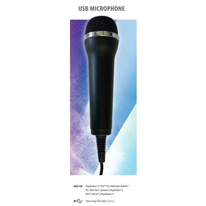 Mikrofon für Karaoke Games (Lets Sing, Voice of Germany, SingStar etc.) für PlayStation (PS3, PS4, PS4 Pro), Nintendo (Switch, Wii U, Wii), XBOX One (OneX, OneS) + PC- 1er Set universal USB Mikrofon Englisch