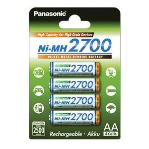Panasonic Akku Mignon (AA/HR6) 4er Blister, High Capacity 2700mAh