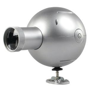 Balance Projektionsuhr 14 cm analog Silber