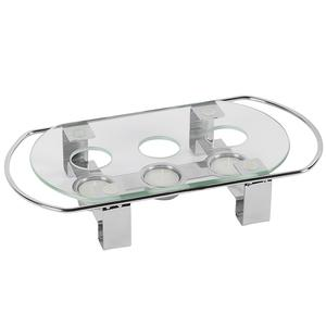 APS Speisenwärmer 3 flammig Glasplatte 34x18x6cm (35065)