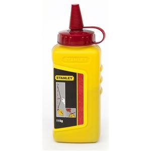 STANLEY Schlagschnurkreide 115 g rot wasserfest, schwer löslich Kunststoffflasche