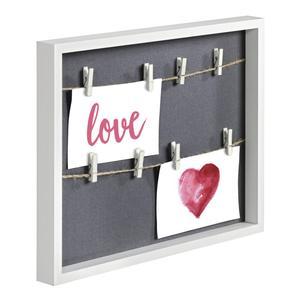 Hama Cavo Fotoleiste weiß 29,5x36,5 cm aus Holz, mit 8 Klammern