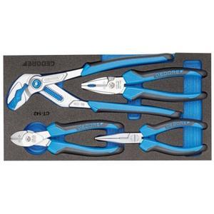 GEDORE Werkzeugmodul 1500 CT1-142 4-teilig 1/3-Modul Zangensatz