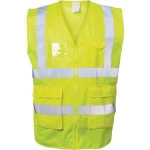 FELDTMANN Warnweste ALBIN Größe L gelb EN ISO 20471 Kl. EN ISO 13688