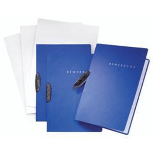 Pagna Bewerbungsmappe SWING blau 2-teilig mit Kunststoffklemme 3er-SET