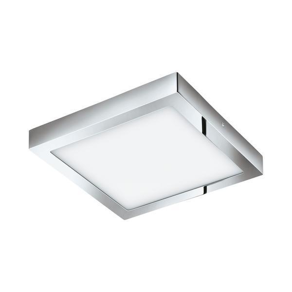 EGLO LED-Deckenleuchte 300X300 CHROM 3000K 'FUEVA 1' (96059)