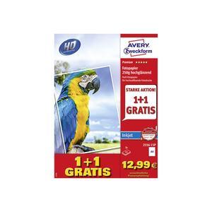 AVERY ZWECKFORM Fotopapier 2556-15P Premium Inkjet 250g A4 2x15 Blatt (2556-15P)