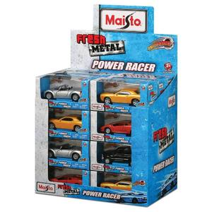 Bauer Maisto, Auto Power Racer 12cm mit Rückzug DC sortiert, 6,9x13,8x6,3cm, 524069