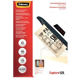 Fellowes Laminierfolie A3 125 mic selbstklebend - 100 Stüc