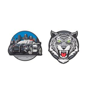 Schneiders Patches Boys Accessories Police Car+Tiger (49005-205)
