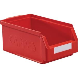 KAPPES Sichtlagerkasten L350xB200xH150mm PE rot