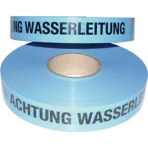 MULTICOLL Trassenwarnband Aufdruck Achtung Wasserleitung Breite 40 mm Länge 250 m blau
