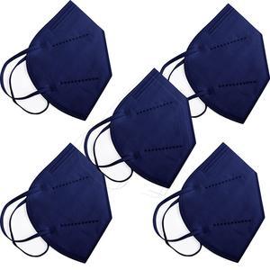 5er Set FFP2 Maske bunt blau einzelverpackt 1 Stück Mundschutzmasken & Nasenschutzmasken