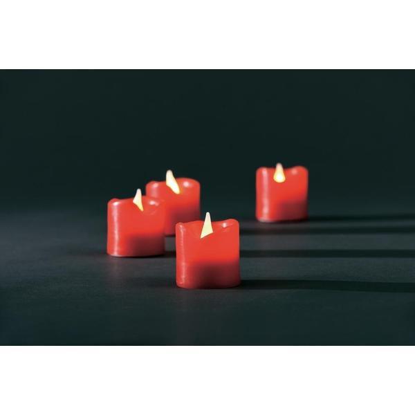 KonstSmide ECHTWACHSKERZE LED H4,5 (ROT WARMWEIß 4FACH)