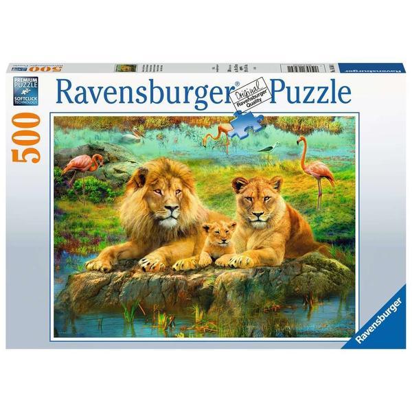 """Ravensburger Erwachsenenpuzzle """"Löwen in der Savanne"""" 500 Teile ab 14 Jahre Puzzle von Ravensburger"""
