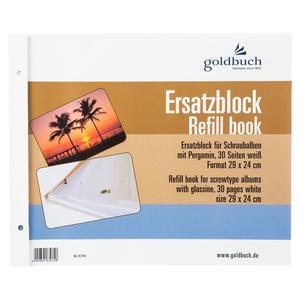 Goldbuch Ersatzblock 29x24 30 Seiten weiß + Schrauben 83075