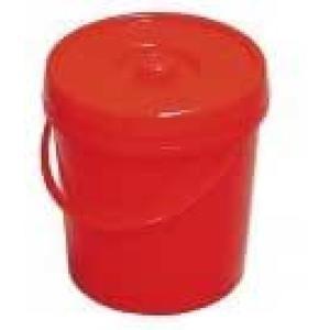 Windeleimer 7l rot mit Deckel u. Bügel ø:23cm