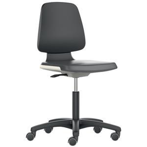 BIMOS Arbeitsdrehstuhl Labsit Rollen Sitzschale blau Supertec-Gewebe schwarz 450-650 mm