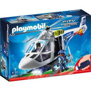 Playmobil, Polizei-Helikopter mit LED-Suchscheinwerfer 6874, City Action, 34,8x24,8x9,5 cm, 6874