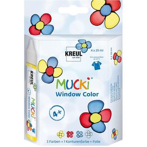 Kreul MUCKI Window Color 4er Set (24450)