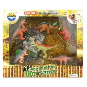 Toy Toy Toy ToyToyToy, Dinosaurier Spielset mit 24 Puzzleteilen sowie 6 D, 24x4x20cm, 501038 501045