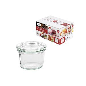 WECK Rundrandglas Einkochwelt Vor-und Nachspeisen Sturz 80 ml 12er Karton mit Deckel 60mm (00019310)