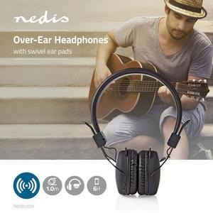 Nedis On-Ear Drahtlose Kopfhörer / Batteriespielzeit: bis zu 6 Stunden / Eingebautes Mikro / Drücken Sie Strg / Lautstärke-Regler