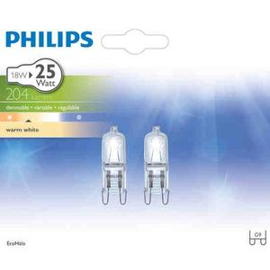 Philips, Halogen G9 18W 204lm 230V Duo