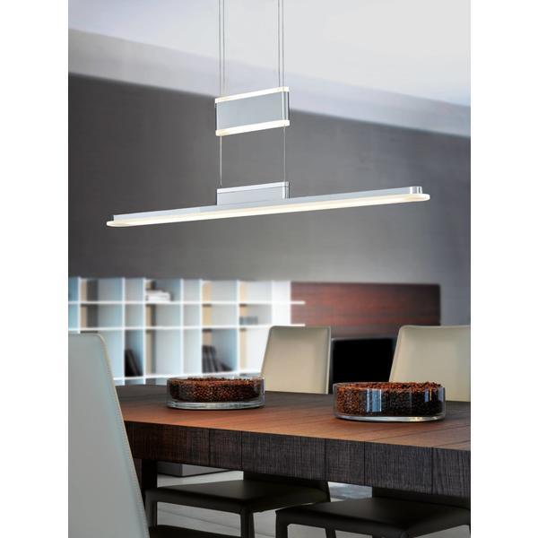 EGLO LED-Hängeleuchte CHROM/SATINIERT 'ARMEDO' (92795)