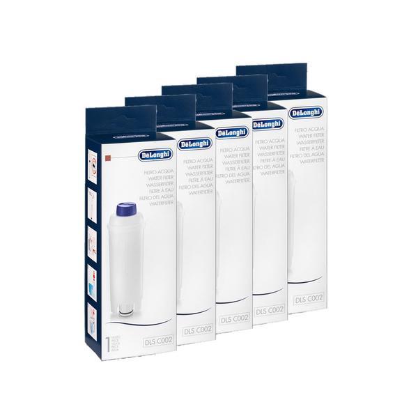5 x DeLonghi Wasserfilter DLS C002 ersetzt SER3017