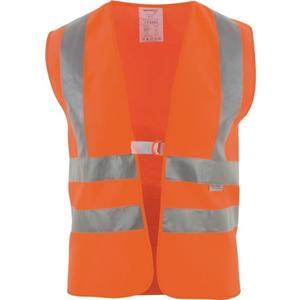 ASATEX Warnweste Größe universal orange mit Schulterreflexstreifen EN 20471 Kl. 2