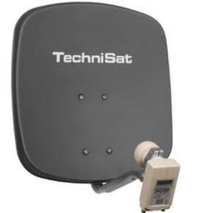TechniSat Alu Sat Spiegel + Twin LNB Digidish 45cm