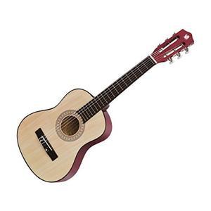 Concerto Gitarre 75cm Holz Kindergitarre aus Holz, Musikinstrument für Anfänger, Holzgitarre zum Lernen, Anfängergitarre für Kinder ab 4 Jahren