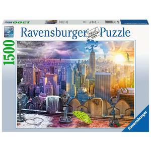 """Ravensburger Erwachsenenpuzzle """"New York im Winter und Sommer"""" 1.500 Teile ab 14 Jahre Puzzle von Ravensburger"""