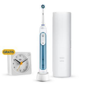 Oral-B Smart Expert Limited Design Edition mit Gratis Braun Wecker & Reise-Etui, blau