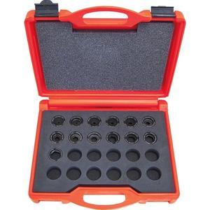 Intercable Presseinsatzset 6-300 mm² für DIN-Serie im Kunststoffkoffer 14-teilig