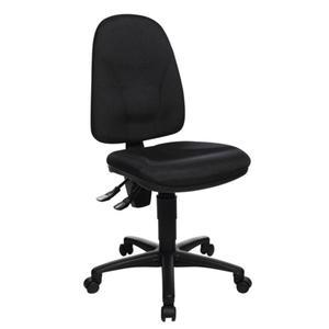 TOPSTAR Bürodrehstuhl mit Lendenwirbelstütze schwarz 420-550 mm ohne Armlehnen Tragfähigkeit 110 kg