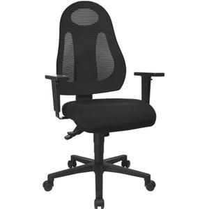 TOPSTAR Bürodrehstuhl mit Synchrontechnik schwarz/schwarz 420-530 mm ohne Armlehnen