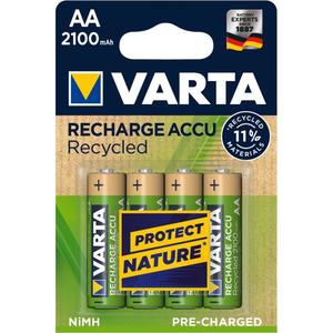 Varta Akku RECHARGE Recycled AA HR6 2100mAh 4St. (56816101404)