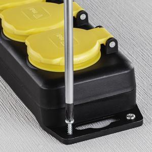 Hama Netzkabel/Adapter spritzwassergeschützt IP 44 (2m) Hama Sortiment 137284 Steckdosenleiste 4-fac