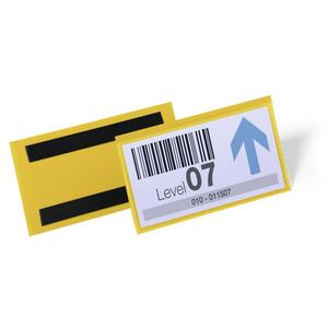 DURABLE Etikettentasche B150xH67mm gelb magnetisch